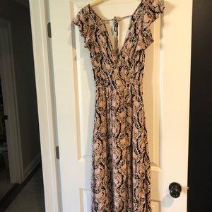 Romper Maxi Dress w/ slit